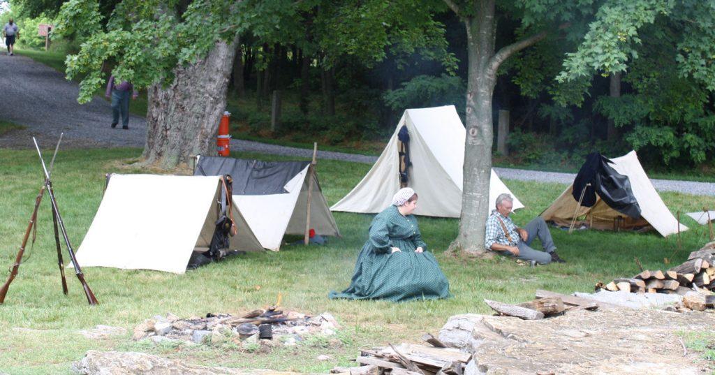 Re-enactors at Antietam battlefield